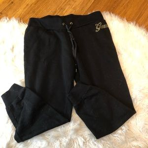 Guess size large black joggers